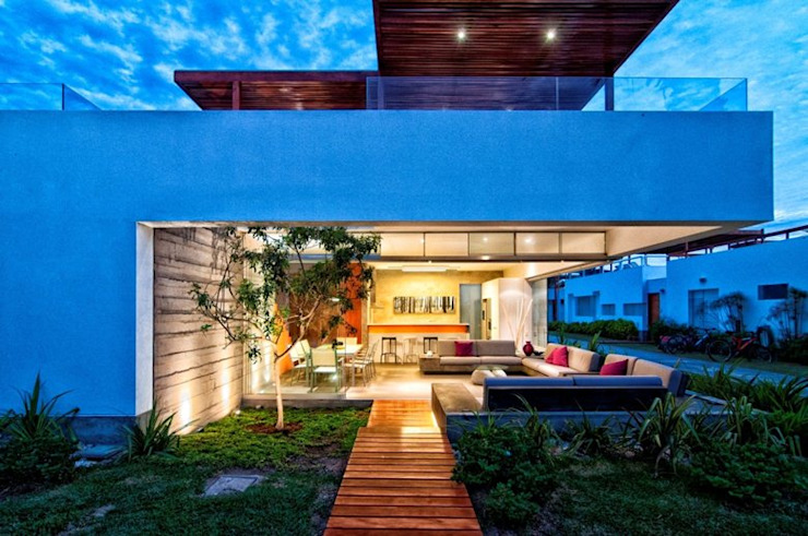 Casa Seta Varandas, alpendres e terraços modernos por Martin Dulanto Moderno