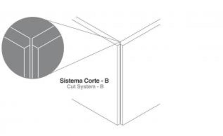 Sistema Corte-B Paredes e pisos modernos por Amop Moderno