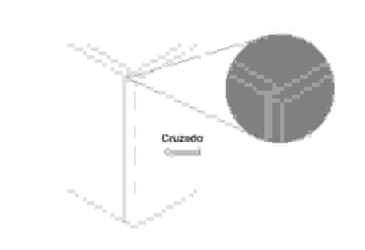 Cruzado Paredes e pisos modernos por Amop Moderno