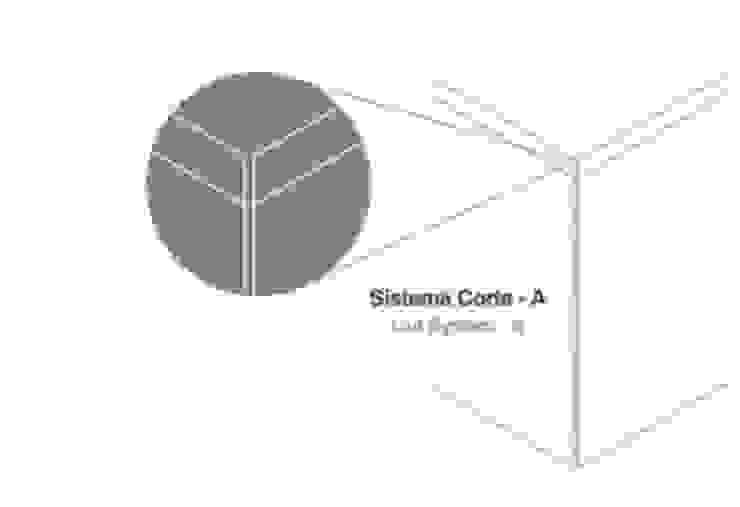 Sistema Corte-A Paredes e pisos modernos por Amop Moderno