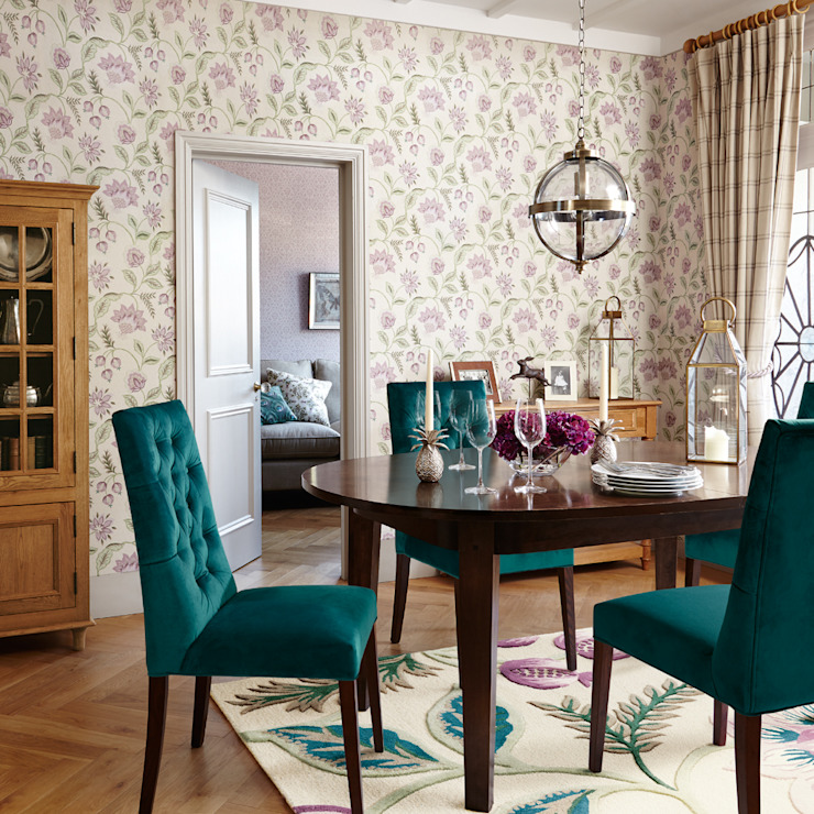 Laura Ashley Decoración Ruang Makan Klasik Multicolored