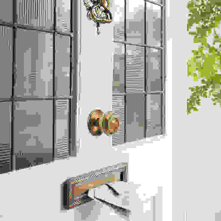 Puerta de entrada Josette azul verdoso Puertas y ventanas de estilo clásico de Laura Ashley Decoración Clásico