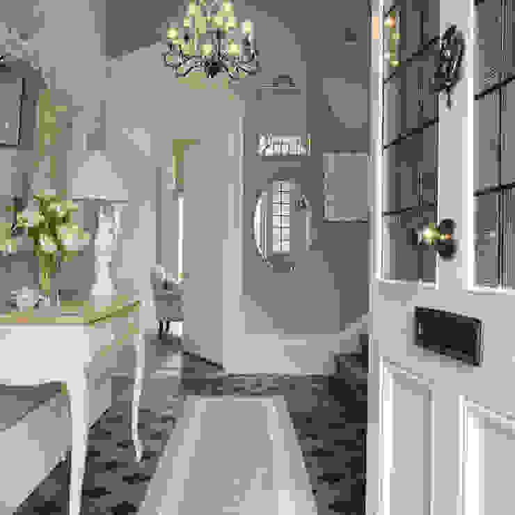 Recibidor Josette azul verdoso Laura Ashley Decoración Pasillos, vestíbulos y escaleras de estilo clásico Azul