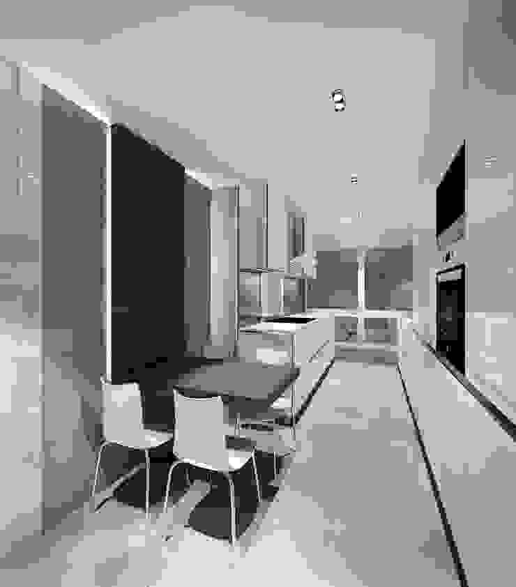 Rochene Floors Modern corridor, hallway & stairs
