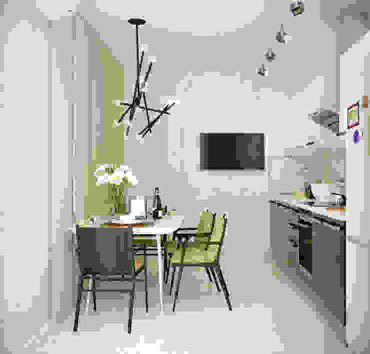 Dapur Minimalis Oleh Студия интерьерного дизайна happy.design Minimalis