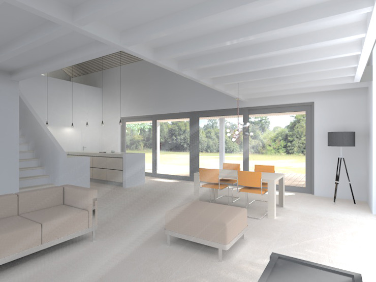 Schuurwoning Ommen Minimalistische huizen van Koezen Architecten Minimalistisch