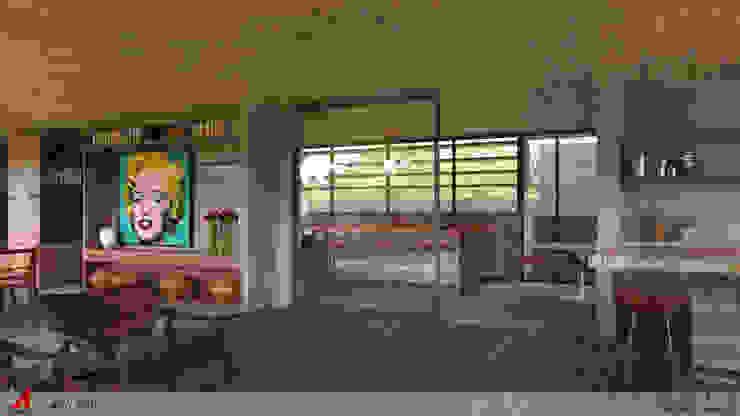 VARANDA DO LAZER Varandas, alpendres e terraços minimalistas por STUDIO LUIZ VENEZIANO Minimalista