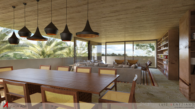 LIVING Salas de estar modernas por STUDIO LUIZ VENEZIANO Moderno