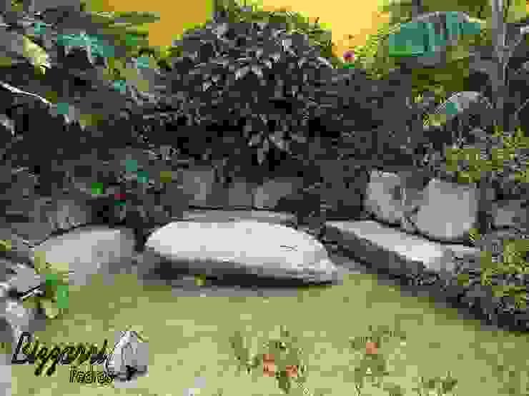 Jardines de estilo rústico de Bizzarri Pedras Rústico
