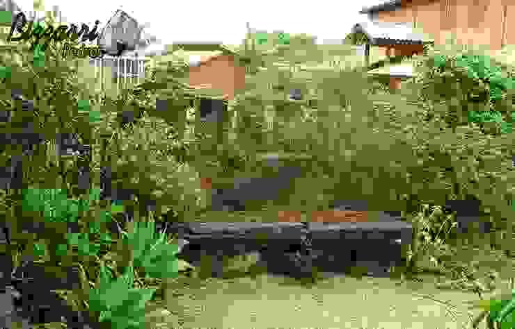 Paisagismo com pedras: Jardins  por Bizzarri Pedras