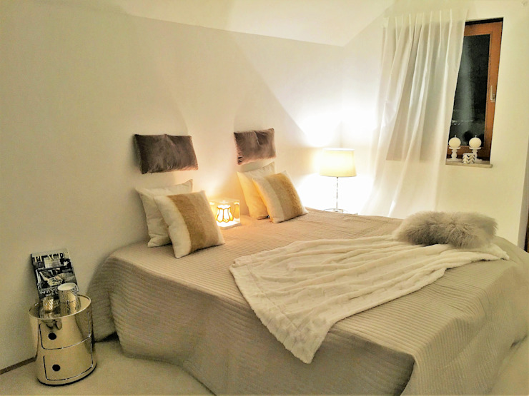 Münchner home staging Agentur GESCHKA Modern Bedroom Beige