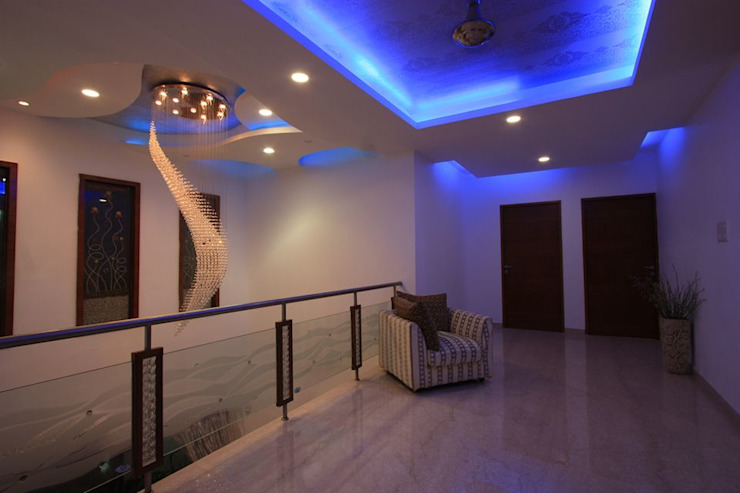 Common area Modern corridor, hallway & stairs by Ansari Architects Modern