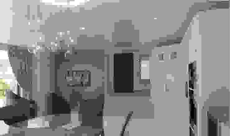 LED lights controlled by a Control4 smart home system Cocinas de estilo moderno de New Wave AV Moderno