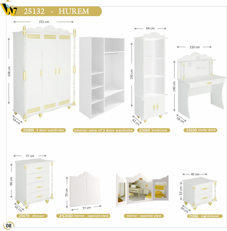 HUREM SETS COMPONENTS Woody Modular Furnitures by Aga Orman Urunleri Ltd. Asyatik