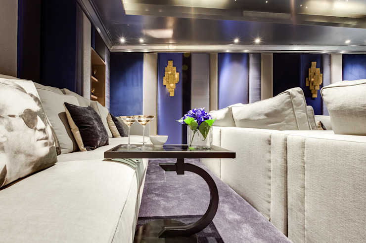 Media room by Mille Couleurs London