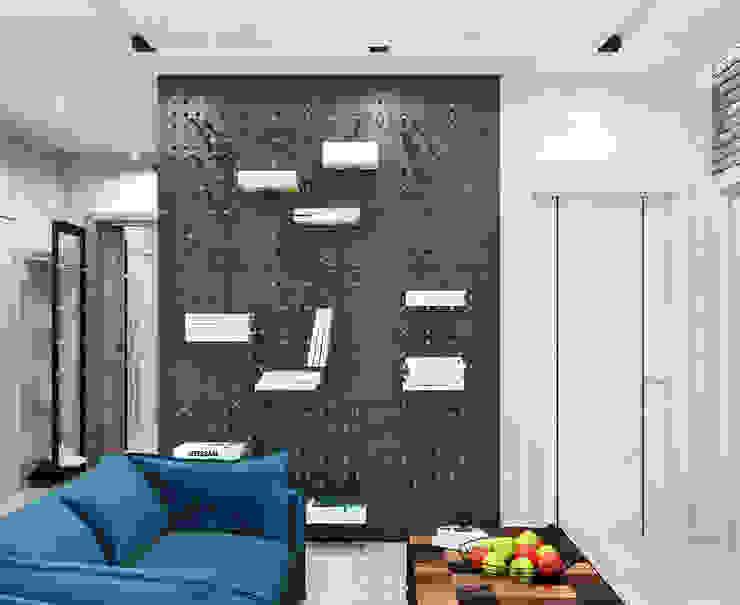 Современный интерьер квартиры с элементами лофта Гостиная в стиле лофт от Студия дизайна Interior Design IDEAS Лофт