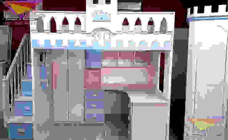 Practica cama alta estilo castillo de camas y literas infantiles kids world Clásico Derivados de madera Transparente