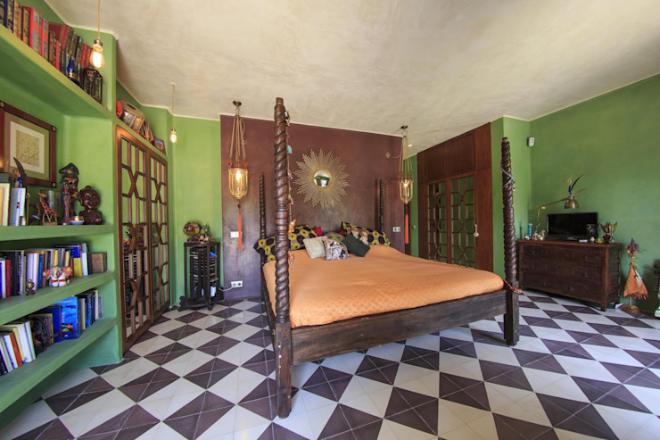 Mediterranean style bedroom by Crafted Tiles Mediterranean