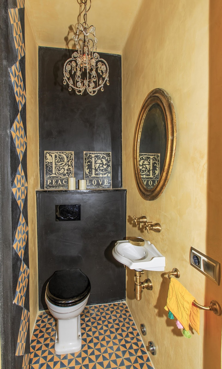 Mediterranean style bathrooms by Crafted Tiles Mediterranean