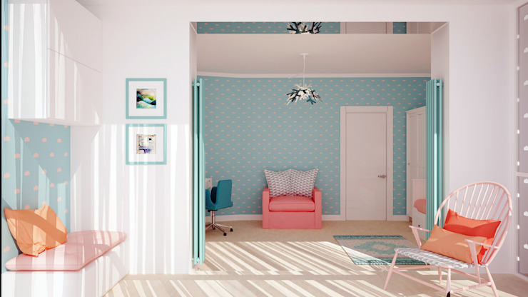 Eclectic style nursery/kids room by АРТэврика Eclectic