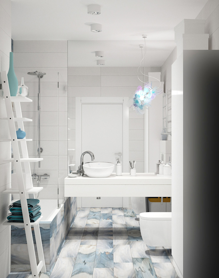 Eclectic style bathroom by АРТэврика Eclectic Tiles