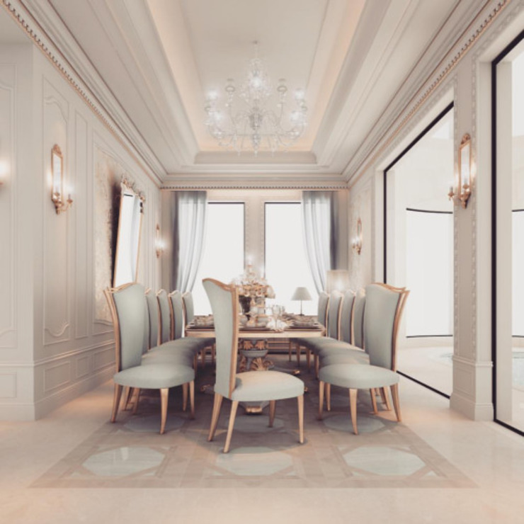 Interior Design & Architecture by IONS DESIGN Dubai,UAE Classic style dining room by IONS DESIGN Classic