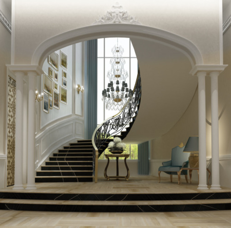 Interior Design & Architecture  by IONS DESIGN Dubai,UAE:  Corridor & hallway by IONS DESIGN,