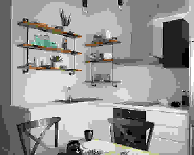 Кухня в скандинавском стиле от homify Скандинавский
