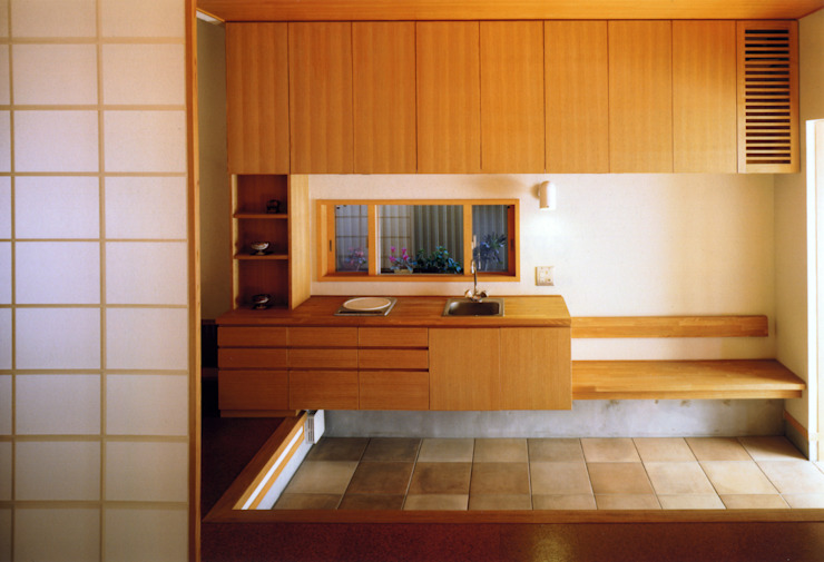 岩川アトリエ Modern Corridor, Hallway and Staircase