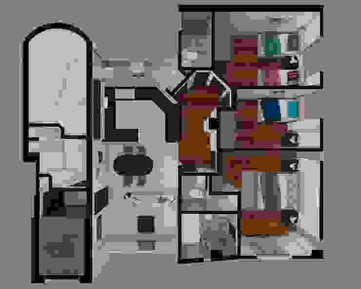 ทันสมัย  โดย Arquitectura y diseño 3d- J.C.G, โมเดิร์น