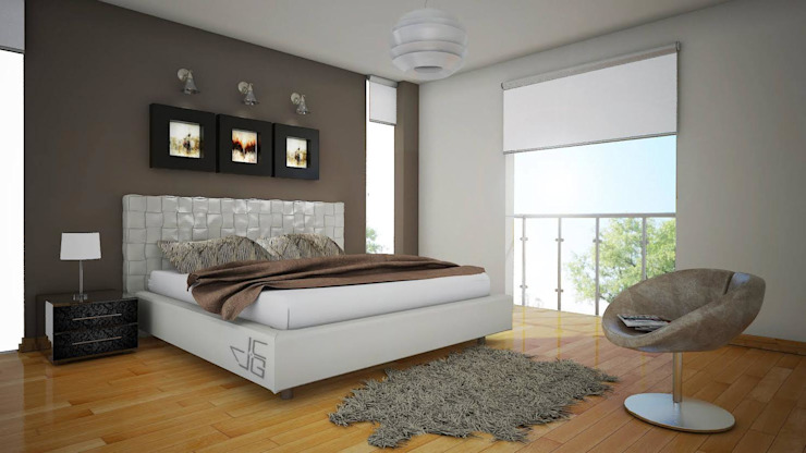 Proyecto en San Andrés, Trujillo Dormitorios modernos: Ideas, imágenes y decoración de Arquitectura y diseño 3d- J.C.G Moderno