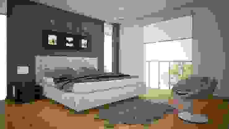 Proyecto en San Andrés, Trujillo Modern style bedroom by Arquitectura y diseño 3d- J.C.G Modern