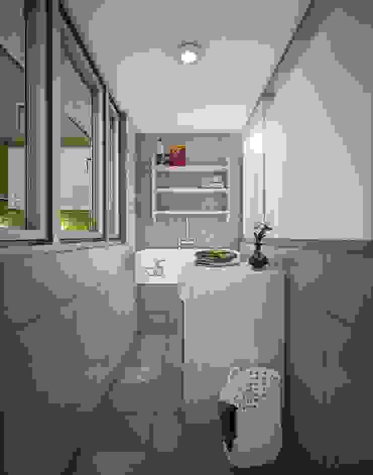 Proyecto en San Andrés, Trujillo Baños modernos de Arquitectura y diseño 3d- J.C.G Moderno