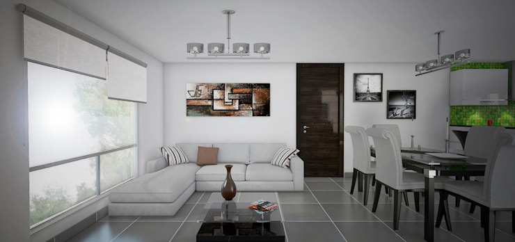 Proyecto en San Andrés, Trujillo Livings modernos: Ideas, imágenes y decoración de Arquitectura y diseño 3d- J.C.G Moderno