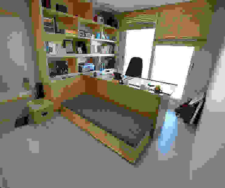 청라반도보라 2차 (Chunglabanbobora 2nd) 모던스타일 침실 by 진플랜 모던