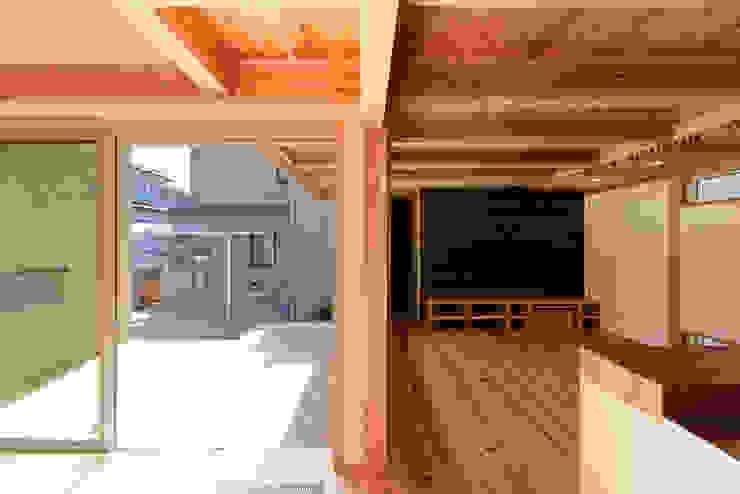 流山中庭を囲む家 Balcon, Veranda & Terrasse modernes par 高野三上アーキテクツ一級建築設計事務所 TM Architects Moderne