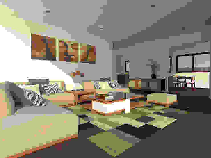 Casa Gama Livings de estilo moderno de Vibra Arquitectura Moderno