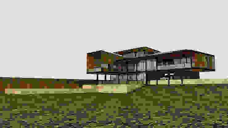 Casa Los Pinos Casas estilo moderno: ideas, arquitectura e imágenes de Vibra Arquitectura Moderno
