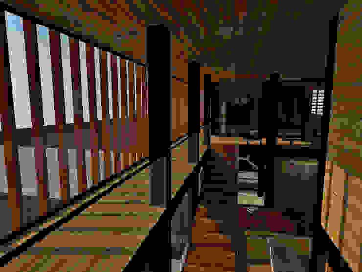 Casa Los Pinos Balcones y terrazas modernos de Vibra Arquitectura Moderno