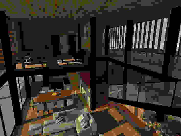 Casa Los Pinos Pasillos, vestíbulos y escaleras modernos de Vibra Arquitectura Moderno