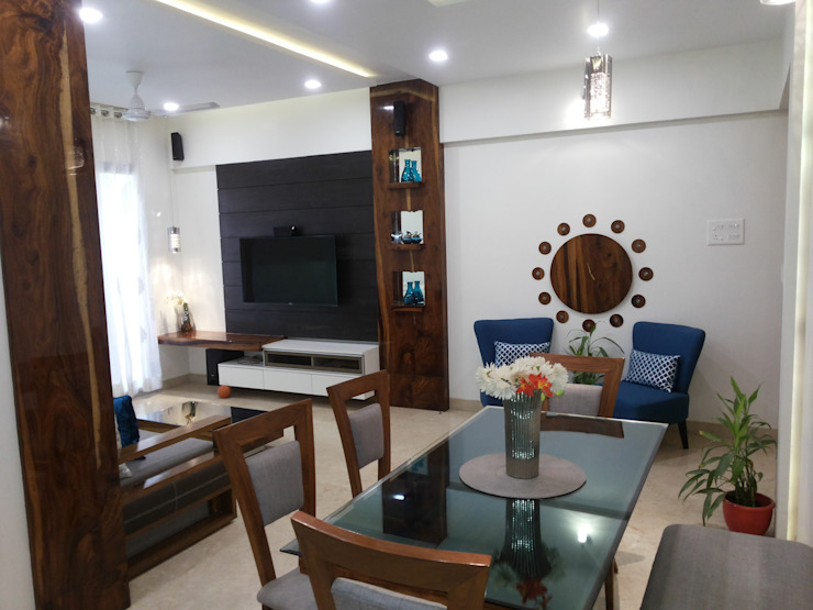 DB WOODS , GOREGAON J SQUARE - Architectural Studio Dining roomTables