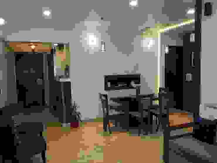 DB WOODS , GOREGAON J SQUARE - Architectural Studio Dining roomLighting