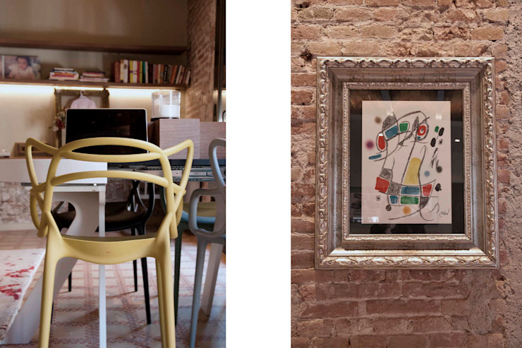 Salas de jantar ecléticas por Brick Serveis d'Interiorisme S.L. Eclético