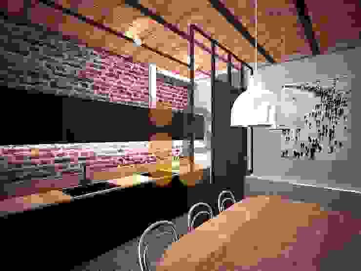 Renders. 3D. Kitchen. Cocina. de Brick Serveis d'Interiorisme S.L.