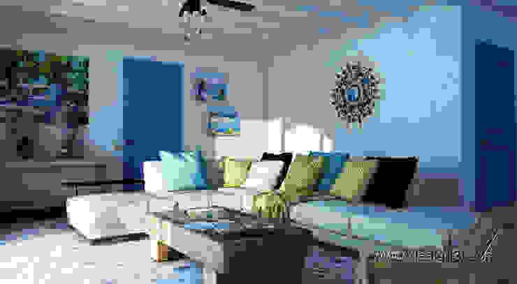 Akdeniz Oturma Odası студия Design3F Akdeniz
