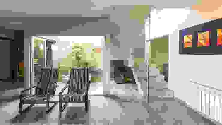 من KARLEN + CLEMENTE ARQUITECTOS حداثي زجاج