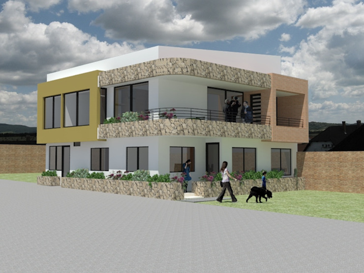 AMPLIACION CASA UNIFAMILIAR BELLAVISTA Casas modernas de MODOS Arquitectura Moderno