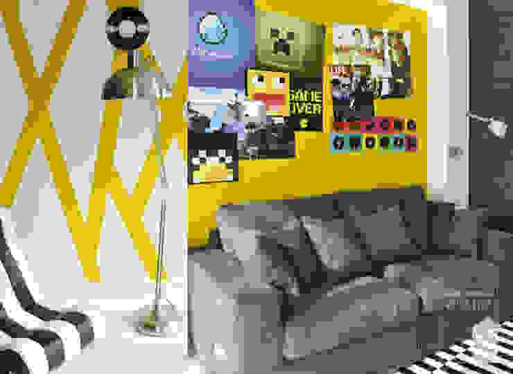 Energetyczny pokój nastolatka Nowoczesny pokój dziecięcy od Pracownia Wnętrz Nowoczesny