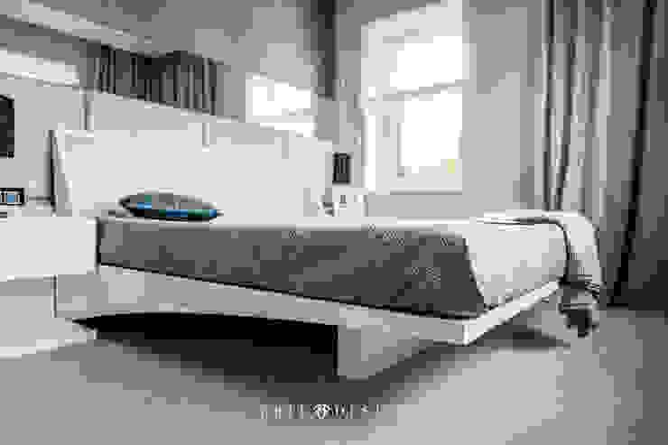 Gdański apartament Nowoczesna sypialnia od Arte Dizain. Agnieszka Hajdas-Obajtek Nowoczesny