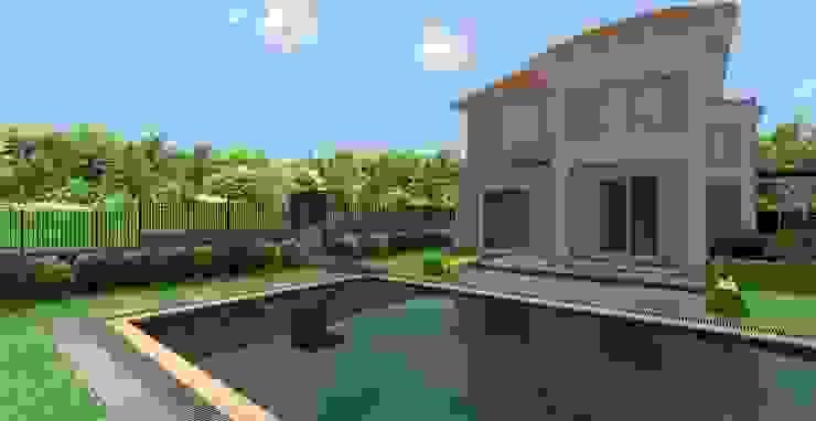 GÜZELŞEHİR VİLLALARI-PEYZAJ PROJE // GUZELSEHIR VILLA - LANDSCAPE PROJECT Modern Bahçe AYTÜL TEMİZ LANDSCAPE DESIGN Modern